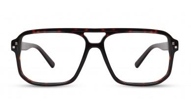 Acetate Rectangle DA-Brown Eyeglass (X-Large)