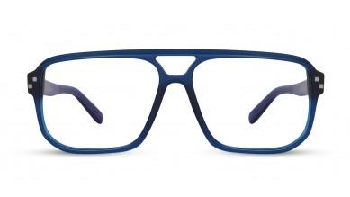 Acetate Rectangle Matte Blue Eyeglass (X-Large)