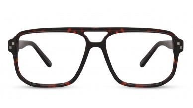 Acetate Rectangle Matte Brown Eyeglass (X-Large)
