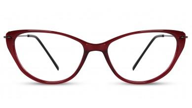 Acetate Cat-Eye Wine Eyeglass (Medium)