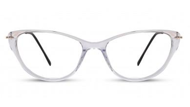 Acetate Cat-Eye Crystal Eyeglass (Medium)