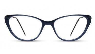 Acetate Cat-Eye Dark Blue Eyeglass (Medium)