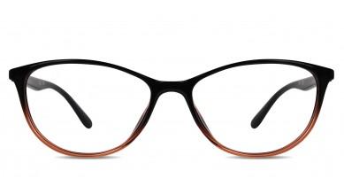 TR90 Cat-Eye Black-Orange Eyeglass (Medium)