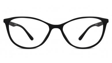 TR90 Cat-Eye Black-Purple Eyeglass (Medium)