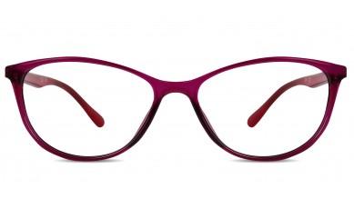 TR90 Cat-Eye Dark-Pink Eyeglass (Medium)