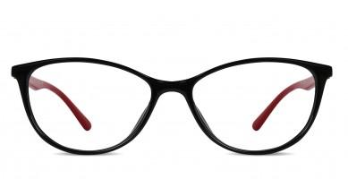 TR90 Cat-Eye Black-Blue Red Eyeglass (Medium)