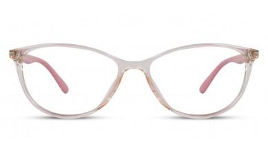 TR90 Cat-Eye Orange-Transparent Eyeglass (Medium)