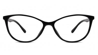 TR90 Cat-Eye Black-Grey Eyeglass (Medium)