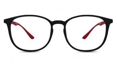 TR90 Round Black-Red Eyeglass (Small)