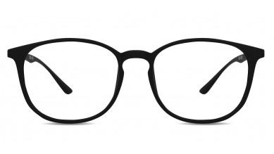 TR90 Round Matte Black Eyeglass (Small)
