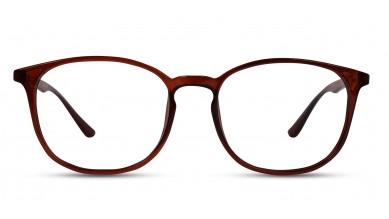 TR90 Round Brown Eyeglass (Small)
