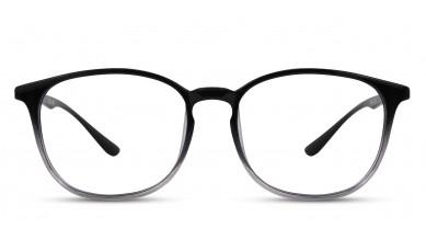 TR90 Round Black-Transparent Eyeglass (Small)