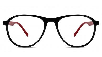 TR90 Aviator Black-Red Eyeglass (Medium)