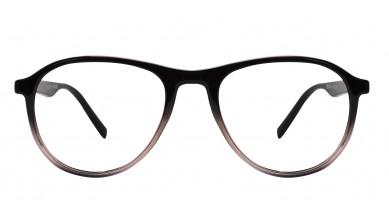 TR90 Aviator Black-Transparent Eyeglass (Medium)