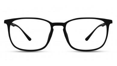 TR90 Rectangle Matte Black Eyeglass (Medium)