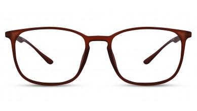 TR90 Rectangle Brown Eyeglass (Medium) Including Blue Cut Lenses Plano