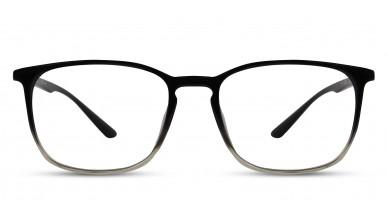 TR90 Rectangle Black-Green Eyeglass (Medium) Including Blue Cut Lenses Plano