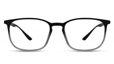 TR90 Rectangle Black-Grey Eyeglass (Medium)