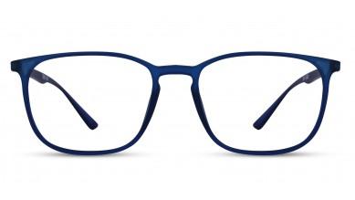 TR90 Rectangle Blue Eyeglass (Medium) Including Blue Cut Lenses Plano
