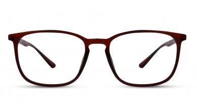 TR90 Rectangle Brown Eyeglass (Medium)