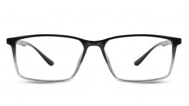 TR90 Rectangle Black-Transparent Eyeglass (Medium)