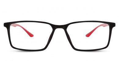 TR90 Rectangle Black-Red Eyeglass (Medium)
