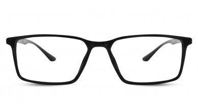 TR90 Rectangle Shine Black Eyeglass (Medium)