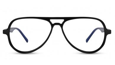 TR90 Aviator Black-Blue Side Eyeglass (Medium)