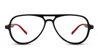 TR90 Aviator Black-Red Side Eyeglass (Medium)