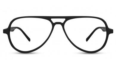 TR90 Aviator Matte Black Eyeglass (Medium)