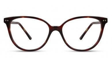 Acetate Cat-Eye Eng. DA-Brown Eyeglass (Medium)