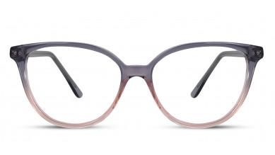 Acetate Cat-Eye Grey-Pink Eyeglass (Medium)