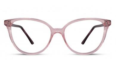 Acetate Cat-Eye Light Pink Eyeglass (Medium)