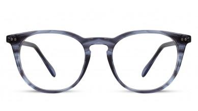 Acetate Round Demi Blue Eyeglass (Medium)