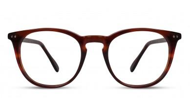 Acetate Round Eng. DA-Brown Eyeglass (Medium)
