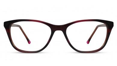 Acetate Cat-Eye Brown-Pink Eyeglass (Medium)