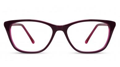 Acetate Cat-Eye Violet-Pink Eyeglass (Medium)