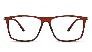 TR90 Rectangle Matte-Brown Eyeglass (Large)